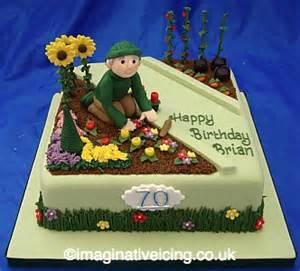 40th Birthday Decorations Male by Gardener Birthday Cake Imaginative Icing Cakes