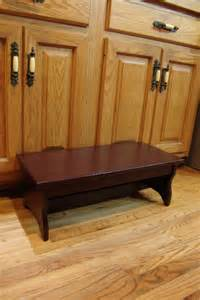 handcrafted heavy duty step stool solid by windywoodswoodcraft