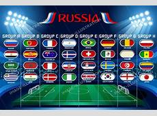 Football flags world cup set vector icons Image Illustration