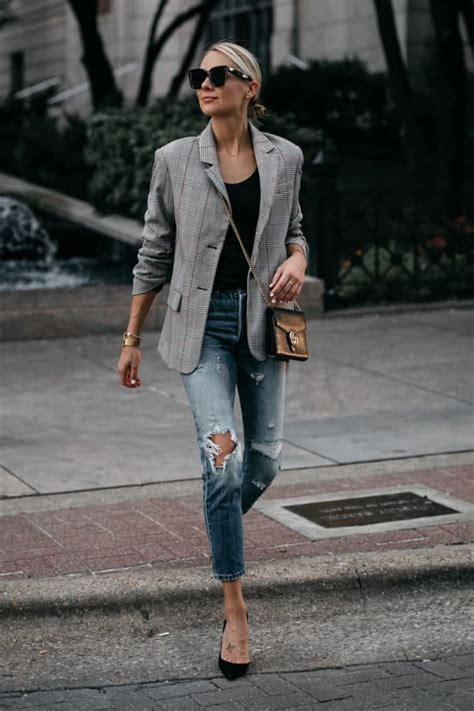 ten ways  style plaid blazer