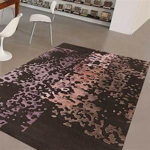 tapis de luxe gris souris et bleu en laine de nouvelle With tapis design luxe