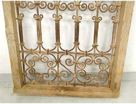 chaise fer forge marocaine moroccan iron window grill wrought morocco maghreb atlas deco xixth century antiques de laval