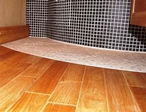 Salle De Bain Teck : parquet teck salle de bain mon parquet ~ Edinachiropracticcenter.com Idées de Décoration