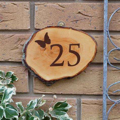 personalised wooden door number sign  nutmeg signs