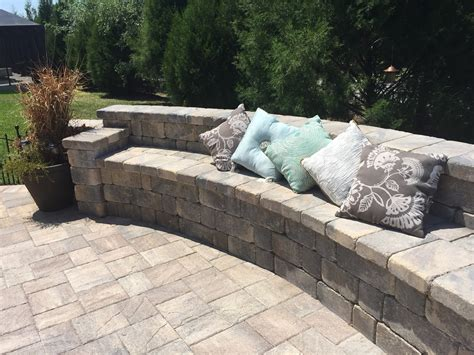 paver patio with sitting bench elite pavers of ta bay