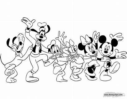 Mickey Friends Mouse Coloring Topolino Disney Line