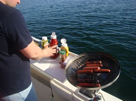 Small Boat Gas Grill by Boat Grills And Grilling Page 2 The Hull