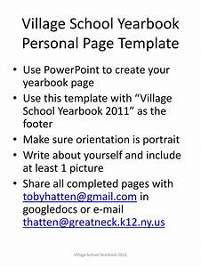 Ppt village school yearbook personal page template for Yearbook template powerpoint