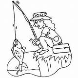 Fishing Cliff Coloring Sheet Pages Freecoloringsheets Water Template Safe sketch template