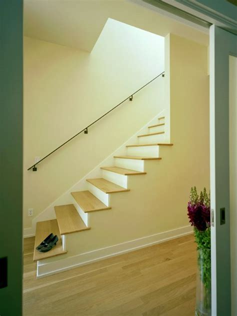 stairs without banister open basement stair home design ideas pictures remodel