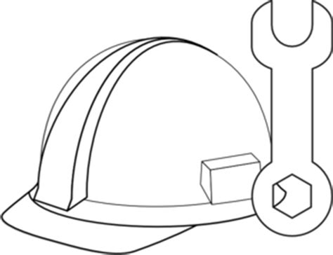 tool kit clipart black and white white hat tool clip at clker vector clip