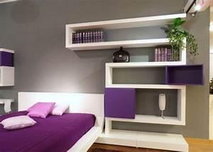 regalsystem wandgestaltung jugendzimmer lila wei deko With wandgestaltung schlafzimmer lila