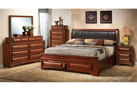 bedroom sets coast cherry king size storage