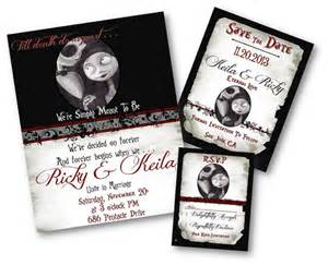 nightmare before wedding invitations items similar to beautiful nightmare before and sally skellington wedding