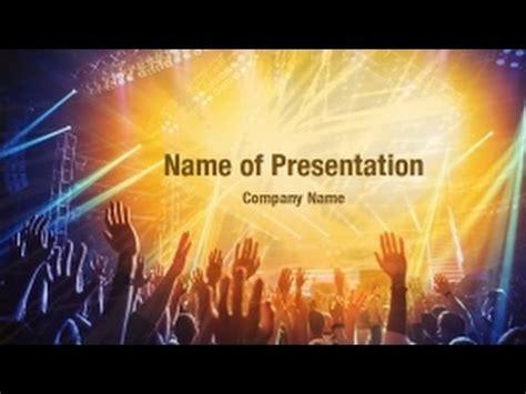 rock concert powerpoint video template backgrounds