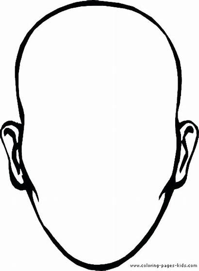 Coloring Face Pages Printable Sheet Template Outline