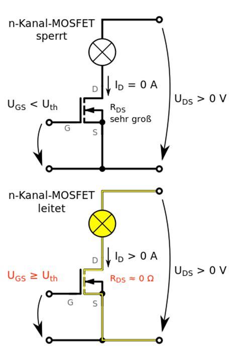 elektronisch schalten mittels mosfets