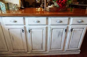 8, Pictures, Of, White, Distressed, Kitchen, Cabinets