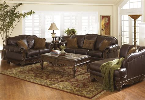 north shore dark brown living room set  ashley