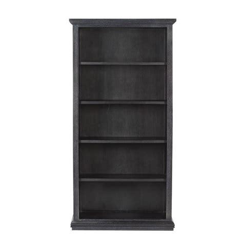 Black Bookcase by Home Decorators Collection Aldridge Washed Black Open