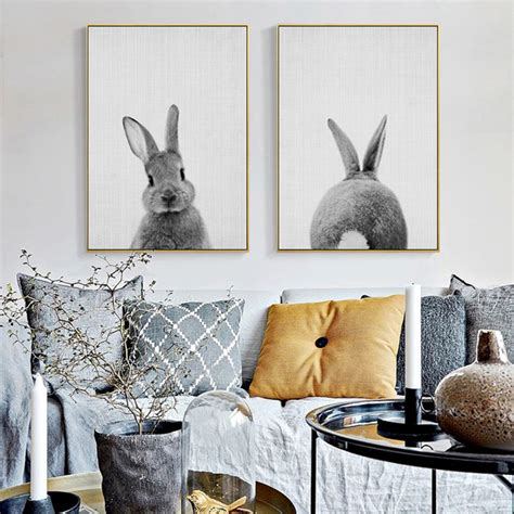 Rabbit Tail Canvas Painting Nursery Wall Art Animal Poster Home Decorators Catalog Best Ideas of Home Decor and Design [homedecoratorscatalog.us]