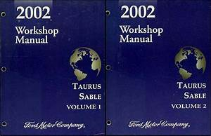 2001 Ford Taurus Mercury Sable Service Shop Set 2 Volume Set And The Wiring Diagrams