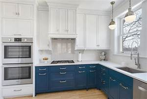 blue grey cabinets kitchen brandnewmomblogcom With best brand of paint for kitchen cabinets with back the blue sticker