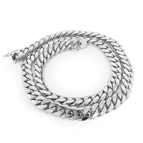 sterling silver solid miami cuban curb link chain