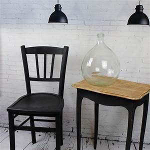 Chaise Bistrot Vintage : chaise de bistrot caf ancienne en bois patine noire vintage 1950 1960 ~ Teatrodelosmanantiales.com Idées de Décoration