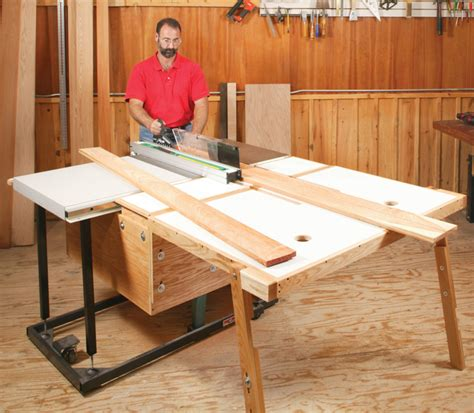 aw extra  folding outfeed table popular
