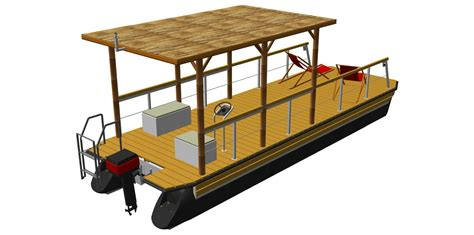 deck pontoon boat kit boat kits the individual kit for your pontoon boat by perebo