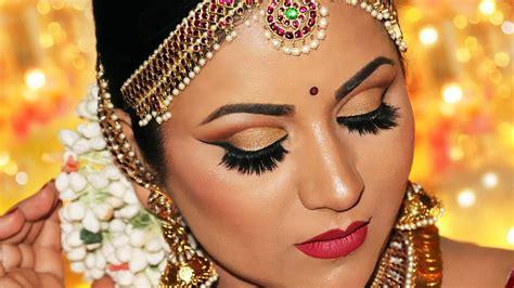 step  step south indian bridal makeup antique gold cut