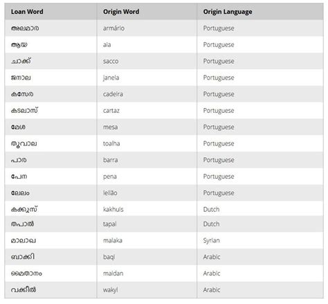 how common malayalam slang words evolved from foreign