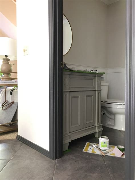 From 90's To Now Guest Bathroom Makeover Before + After