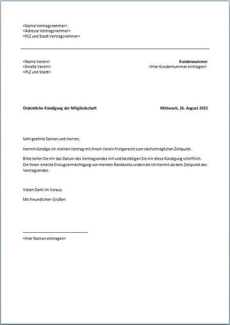 kuendigungsschreiben wohnung vorlage kostenlos