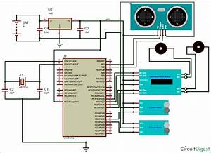 Circuit Diagram For Obstacle Avoiding Robot Using Pic