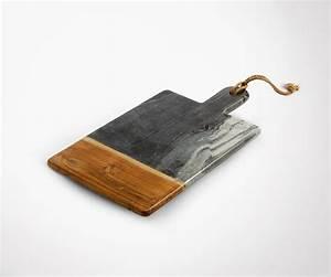 Planche A Decouper : planche d couper marbre gris et bois ~ Teatrodelosmanantiales.com Idées de Décoration