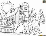 Coloring Pages Agriculture Printable Tools Farm Country Teaching Animal Sheets Adult Agricultural Animals Colour Drawing Adults Farms Landscape Template Living sketch template
