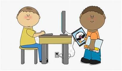 Clipart Clip Student Classroom Teacher Computer Center