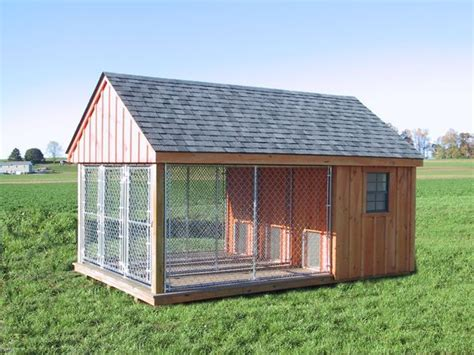 shed free large dogs k 9 pa built kennel outdoor run fence house