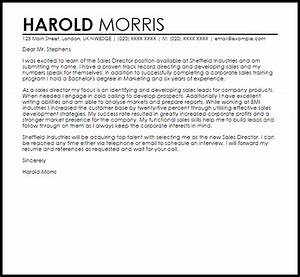 Sales Director Cover Letter Sample LiveCareer This Sales Cover Letter Example Is An Introduction To Your Sales Support Cover Letter Sample LiveCareer Retail Jobs Cover Letter Examples