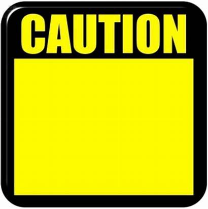 Caution Sign Safety Border Blank Tape Clip