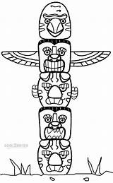 Totem Pole Coloring Pages Poles Native American Printable Animal Cool2bkids Craft Crafts Template Indian Adults Children Eagle Sheets Drawing Printables sketch template