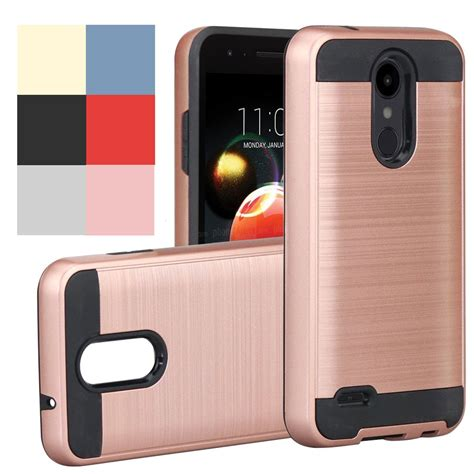 dual layer brushed hybrid armor case hard cover  lg