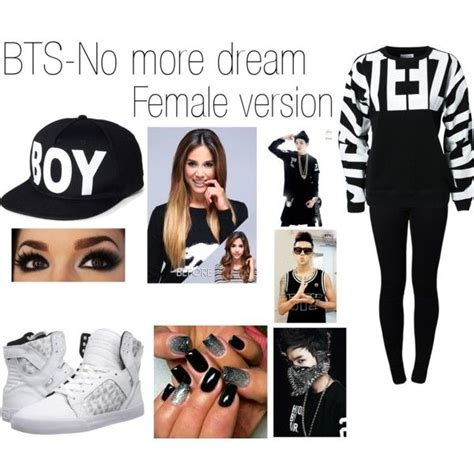 BTS- No more dream(female version) by mairynanaya15 on Polyvore featuring polyvore fashion style ...