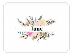 June 2017 Printable Calendar and Backgrounds