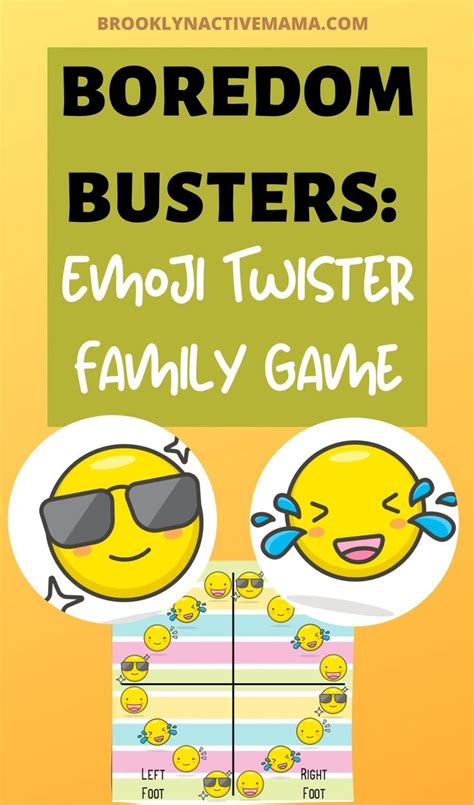 Boredom Buster: Emoji Twister Printable Game For Kids in