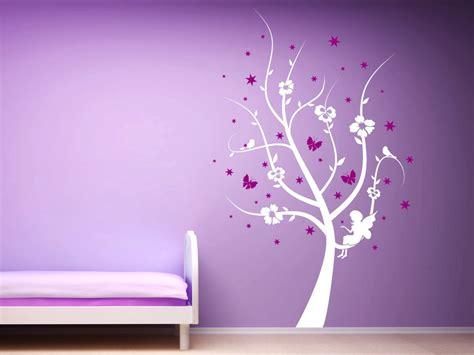 Wandtattoo Kinderzimmer Mädchen Baum by Zweifarbiges Kinder Wandtattoo Zauber Baum Mit Sternen
