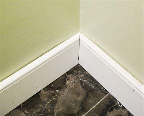 bathtub floor trim bathroom renovation how to install baseboards trim 1509