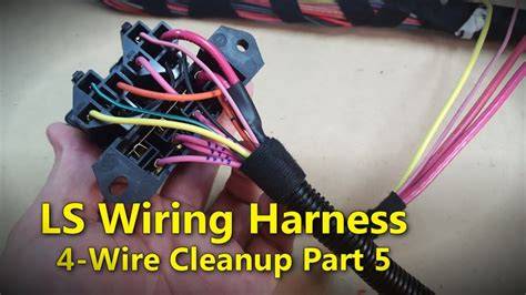 Wiring Harnes Hook Up by Ls Wiring Harness Part 5 Project Rowdy Ep017